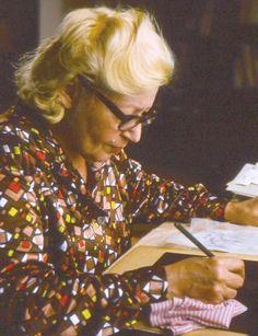 Ludmila Jiřincová při práci, foto: Karel Lojka