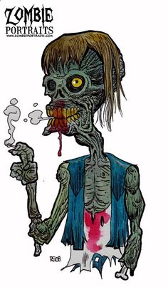 4:20 Zombie Art by Rob Sacchetto.   Did You Know Weed On A Zombie Has The Opposite Effect As It Has On Humans ? They Don't Get The Munchies !
