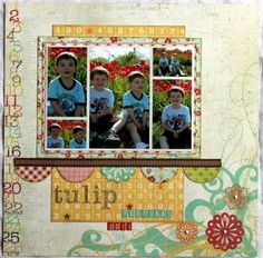 Taylor Stamped: Simple Stories Layout #2