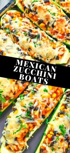 These delicious Mexican Zucchini Boats are so flavorful and scrumptious. This is the perfect dish if you love vegetarian dishes with some kick. Tasty Vegetarian Recipes, Vegetable Recipes, Mexican Food Recipes, Whole Food Recipes, Diet Recipes, Cooking Recipes, Healthy Recipes, Healthy Food, Vegan Recipes