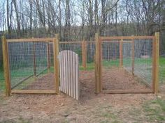Fence for our Vegetable Garden | Farmer's Daughter. This is what I'll do to my future garden but bigger.