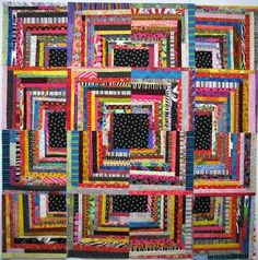 Wow! Great scrap quilt. #crafts