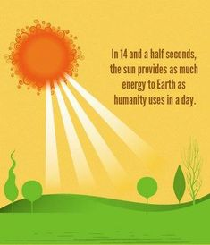 In less than 15 seconds and the sun can power the Earth for the rest of the day. What are we waiting for? Why not use this? (April 13, 2014)