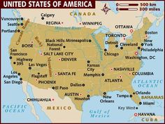 Road Trip Around The States Map Of Usausa