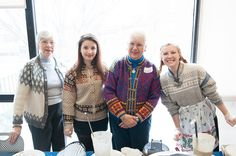 Auggies of all ages love Norwegian sweaters. This was taken at Augsburg College's 2014 Velkommen Jul celebration.