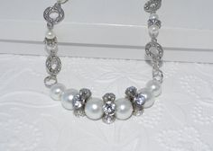 SALE Chunky Pearl and Rhinstone Wedding by BlingThingsOriginals
