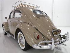 1956 Volkswagen Type 1 Oval Window Beetle Original California Car - Daniel Schmitt & Co. Volkswagen New Beetle, Volkswagen Karmann Ghia, Volkswagen Golf, Ferdinand Porsche, Vw Vintage, Best Muscle Cars, Classic Cars, Type 1, Beige