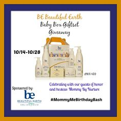 Enter to #win a 6pc baby bath grooming set from @beautifulearthu and @MommyByNurture in the #MommyMeBirthdayBash #giveaway event!