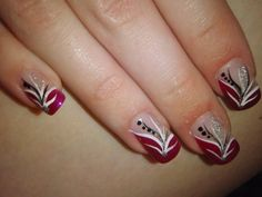 red white and black nail designs | ... for these to grow out now so i can start using my nail varnishes