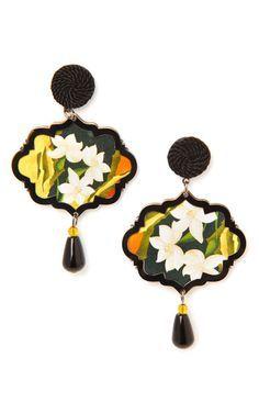 Marco Polo lotus blossom earrings by Anna E Alex