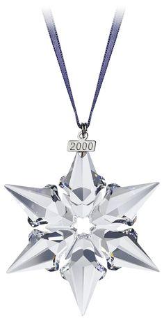 3dae56528 2000 - SNOWFLAKE - Large Snowflake only - blue ribbon. Crystal Snowflakes,  Snowflake Ornaments