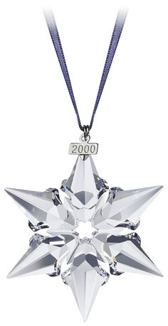 2000 - SNOWFLAKE - Large Snowflake only - blue ribbon.