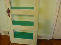 Vintage Door Leaning Bookcase by MissississiWood on Etsy