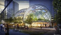 NBBJ Proposes Five-Story Biodome for Amazon's Seattle Headquarters