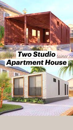 Sea Container Homes, Sea Containers, Container House Design, Tiny House Design, Shipping Container House Plans, Animal Logo, House On Wheels, Studio Apartment, Architecture