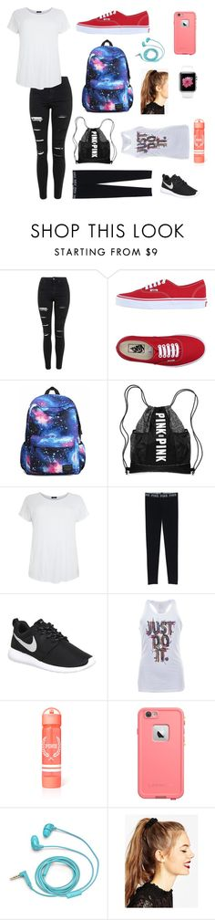 """""""Sick and Running After"""" by kathrynclifford on Polyvore featuring Topshop, Vans, NIKE, FOSSIL, ASOS, women's clothing, women's fashion, women, female and woman"""