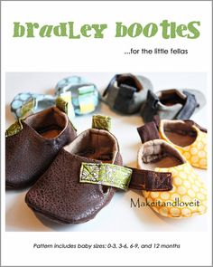 Bradley Baby Booties - PDF sewing pattern