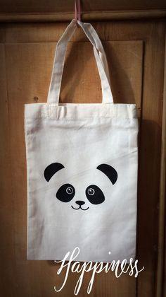 """Bag painting Tote bag fille """" Panda """" : Sacs enfants par la-fabrique-a-marius Stofftasche Mädchen Sac Tods, Tods Bag, Retail Bags, Fabric Paint Designs, Bag Quotes, Sacs Design, Diy Tote Bag, Creation Couture, Fabric Bags"""
