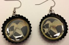 Mockingjay Bottle Cap Earrings? Yes please!