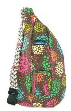 "Discovered a great new bag that hugs the back and easier on the shoulder - great for moms or any woman who is ""on the go"" - hands free. Easy to swing the bag to the front to access wallet without taking the bag off my shoulder.  Lots of options at Kavu.com"