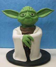 how to make a yoda star wars cake - Google Search