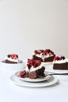 Dark chocolate cherry cake