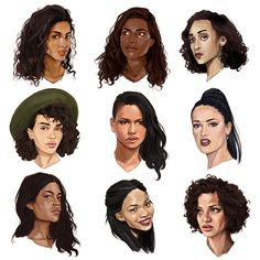 Ideas Drawing Ideas For Girls Sketches Design Reference Chanel Iman, Drawing Tutorials, Art Tutorials, Drawing Ideas, Character Design References, Character Art, Laura James, Mixed Race Girls, Color Race