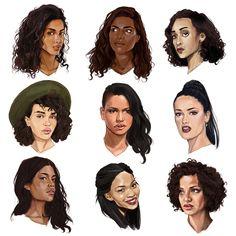 some love for my mixed race girls… from left to right: imaan hammam, sarita choudhury, ruth negga, isabella peschardt, cassie, salma hayek, laura james, chanel iman, gugu mbatha-raw.