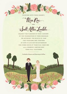 Wedding Invitations by Rifle Paper Co.                                                                                                                                                                                 More