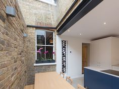 "Completed in Spring this glazed side-return creates an elegant kitchen and dining space for an East Oxford terrace. The client, Sloane Hamilton, said,""The side return has changed our ki… Victorian Terrace House, Victorian Kitchen, Victorian Homes, Side Return Extension, Rear Extension, Extension Ideas, Garden Front Of House, House Front, Front Porch"