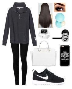 """""""Baby your so classic"""" by blessed-with-beauty-and-rage ❤ liked on Polyvore featuring Wolford, Victoria's Secret, NIKE, Michael Kors, Casetify, River Island and Beats by Dr. Dre"""