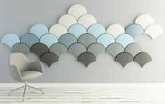 Ginkgo Acoustic panel Blå Station 2013 Stone Designs