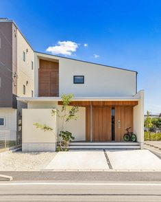 Box House Design, Small House Design, Japanese Modern House, Japanese Buildings, Japanese Interior Design, House Landscape, Dream House Exterior, New Home Designs, House Roof