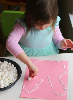 marshmallow easter bunny craft for preschool