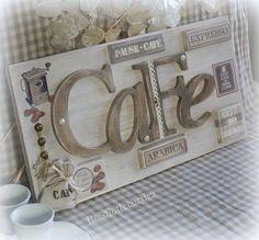 TABLEAU EN BOIS - CHANTOURNAGE - THÈME CAFÉ . COMMANDE RÉSERVÉE CÉCILIA : Décorations murales par boisflottecorsica