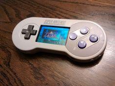 Handheld Pi in a Super Nintendo Controller? Arcade Stick, Mini Arcade, Retro Arcade, Nintendo Ds, Nintendo Controller, Super Nintendo Console, Control Nintendo, Retro Pi, Yoshi