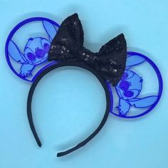 Stitch Mickey Ears #diy #mickeyears #disney #minnieears #disneyears #craft #disneycraft
