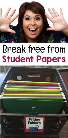 Stop spending hours filing papers and sending home student work! Check out my super easy, student-run system.