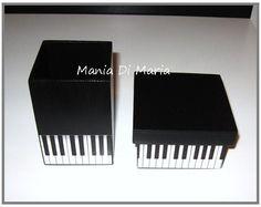 Kit Porta Lápis e Caixa Multiuso Piano