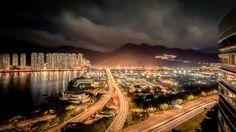 night scene hong kong wallpaper download free hd