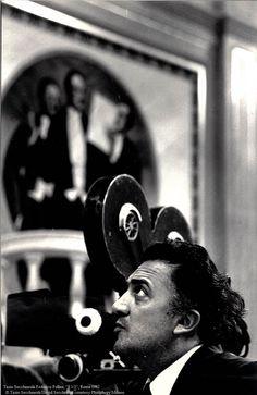 """Federico Fellini on the set of """"8 1/2"""" © Tazio Secchiaroli 1962"""