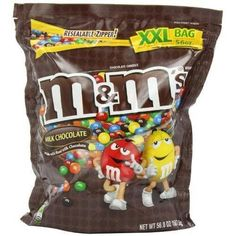 Authentic M&M Candy Milk Chocolate 56 Ounce New, ,