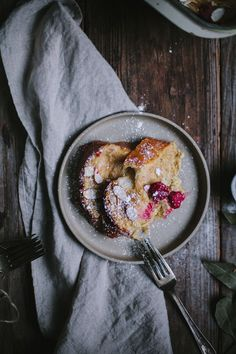 Raspberry Almond French Toast