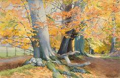 Ashridge Autumn (Brian Robinson Watercolor)