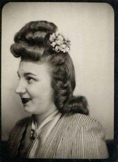 Fabulous volume! #vintage #1940s #hair #photo_booth