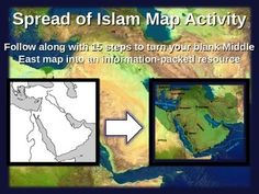 Spread of islam map activity