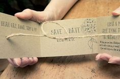 Handmade tying the knot save the dates by thenaturalweddingcompany.co.uk | Visit wedding-venues.co.uk