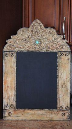 The Venetian-- Decorative Kitchen Chalkboard - Rustic Old World Style Chalkboards - Art plus Function http://zeezeechalkboards.blogspot.ca