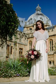 Nadia  Wedding dress in satin sequins and pure silk.