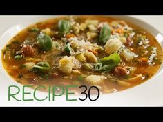 Hearty Minestrone Soup – Easy Meals with Video Recipes by Chef Joel Mielle – RECIPE30